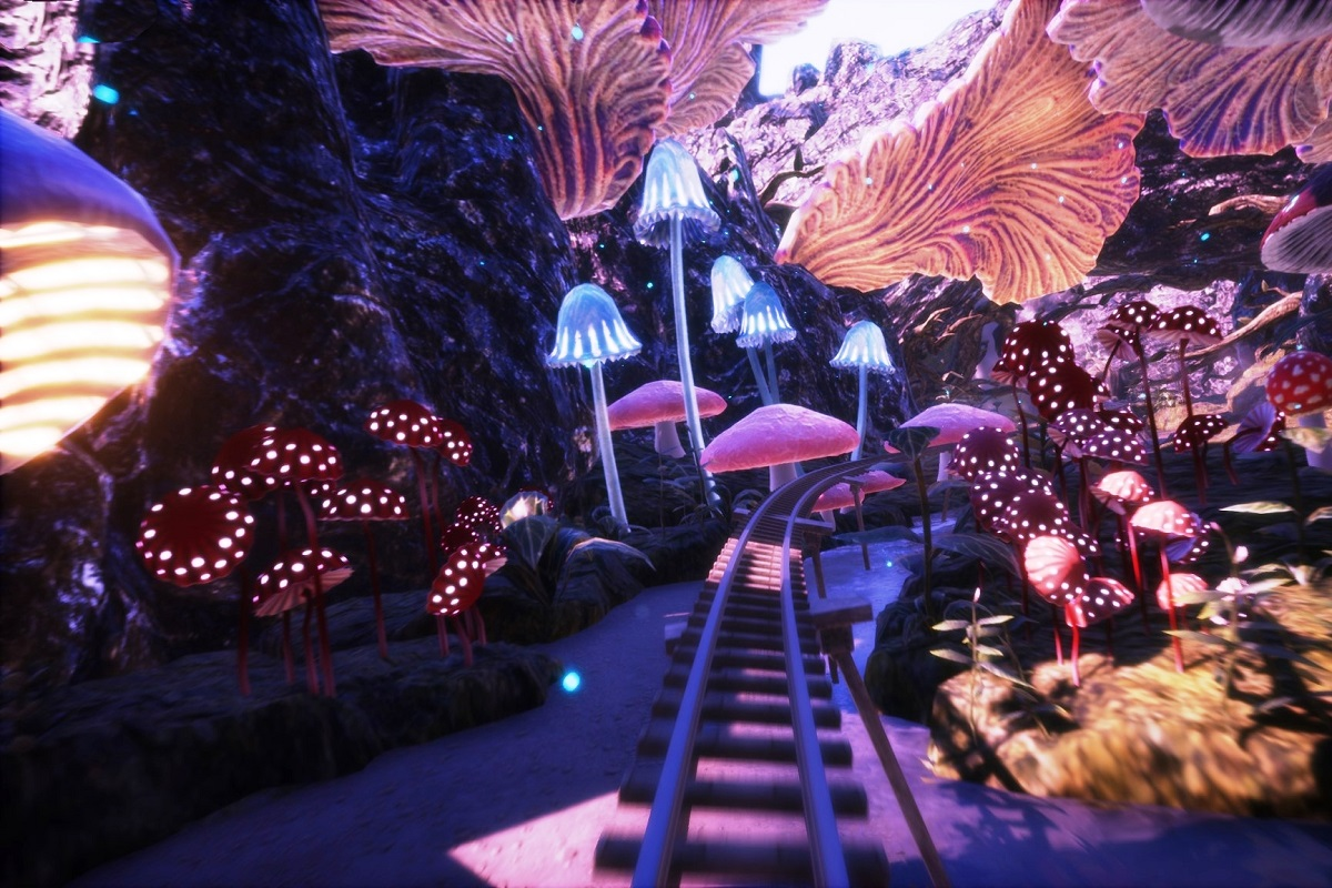 Roller coaster VR 5D - 1 - screen - google vr wynajem atrakcji na impreze firmową