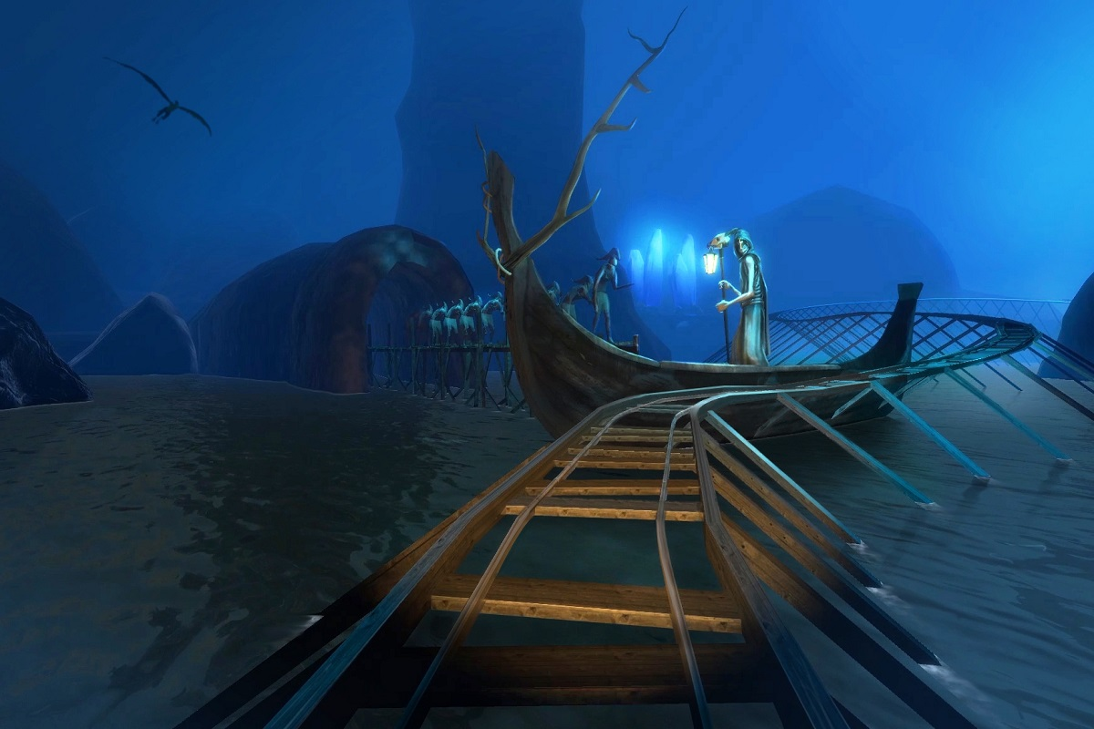 Roller coaster VR 5D -2 - screen - google vr wynajem atrakcji na impreze firmową