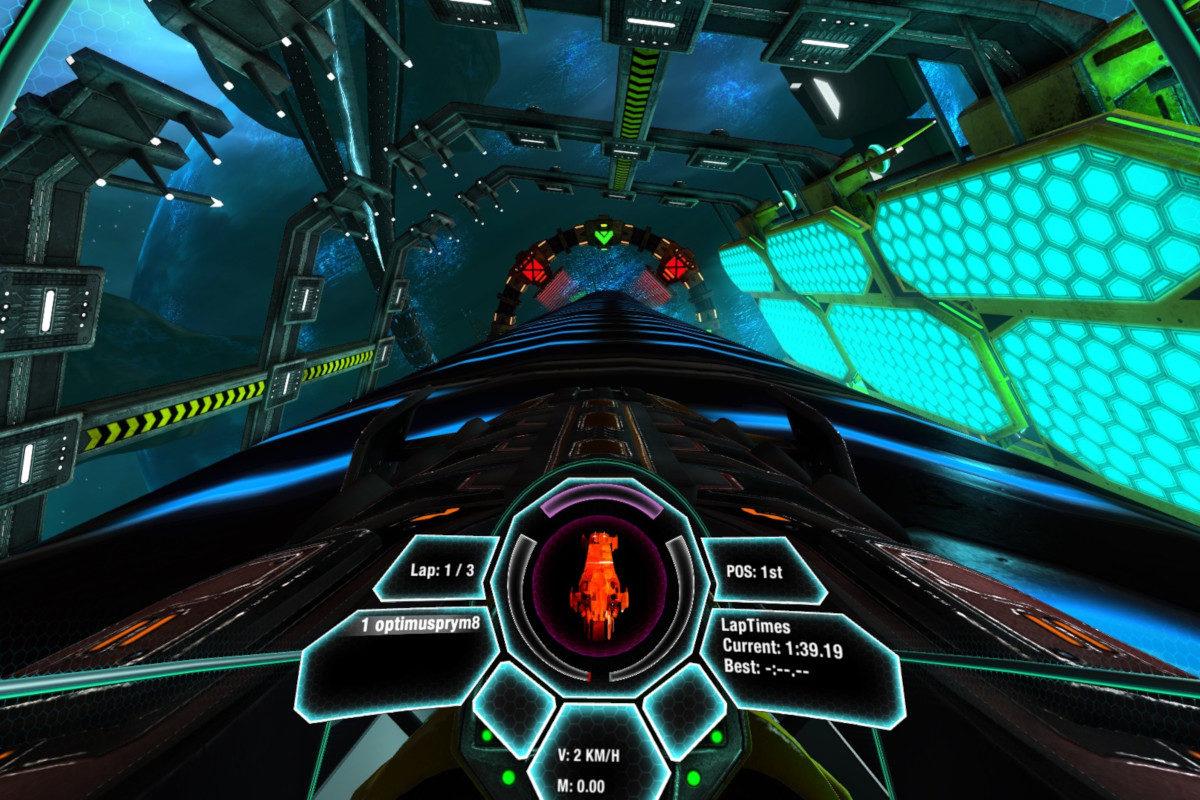 Stanowisko VR Kosmiczne - 5 - kosmiczny wyścig wynajem na targi