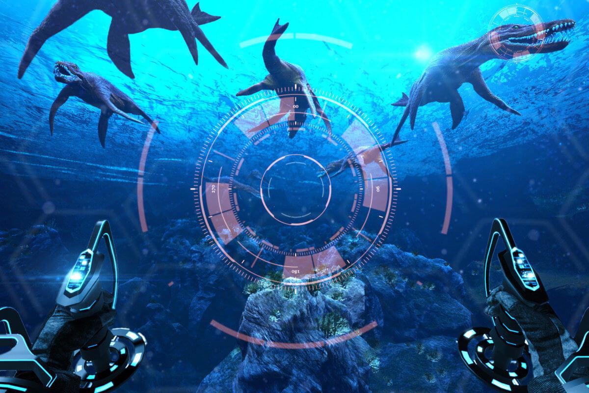 Symulator Batyskafu VR - 8 - atrakcje morskie urządzenia vr wynajem