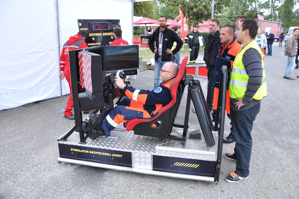 Symulator jazdy miejskiej - 2 - wynajem na szkolenia bhp